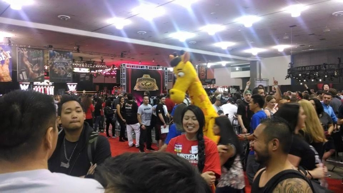 A wild giraffe appeared. Don't ask why. Just enjoy Axxess