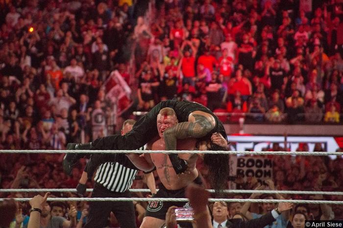 Wrestlemania 31 Brock Lesnar F5 Roman Reigns