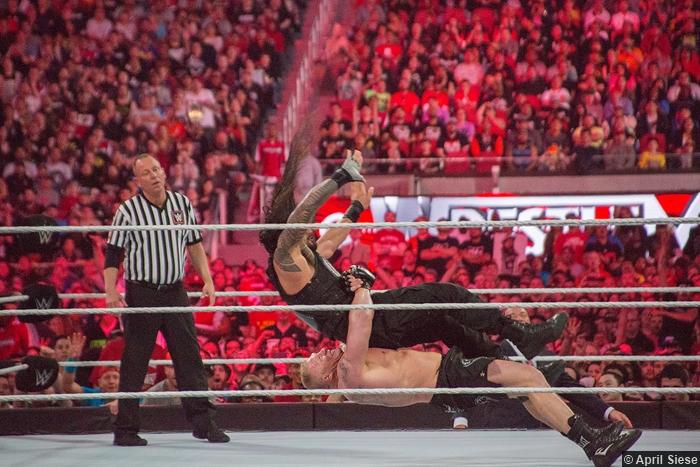 Wrestlemania 31 Brock Lesnar Roman Reigns Suplex