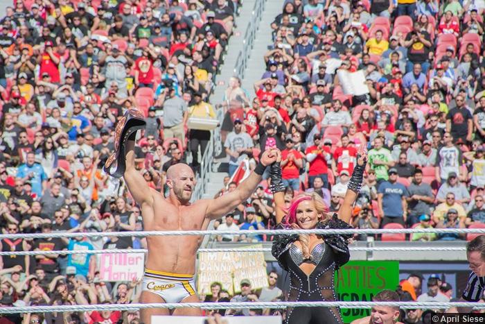 Wrestlemania 31 Cesaro Natalya Tyson Kidd
