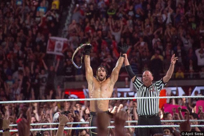 Wrestlemania 31 Seth Rollins Shock
