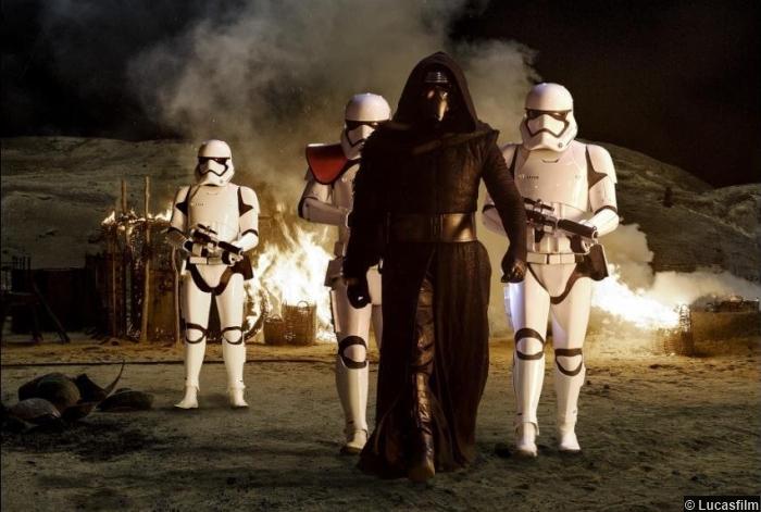 Star Wars Awakens Adam Driver Kylo Ren Stormtroopers