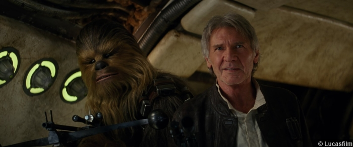 Star Wars Awakens Harrison Ford Peter Mayhew Han Solo Chewbacca