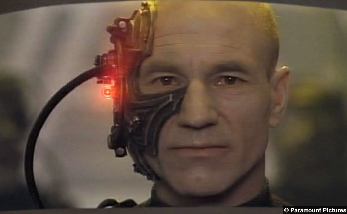 Star Trek Tng Best Both Worlds Patrick Stewart Jean Luc Picard Borg