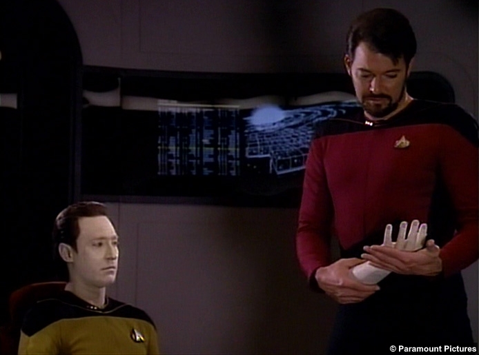 Star Trek Tng Measure Man Data Brent Spiner William Riker Jonathan Frakes