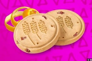 Cranberry Citrus Crisp Cookies