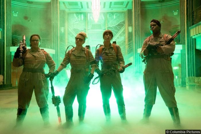 Ghostbusters Leslie Jones Melissa Mccarthy Kristen Wiig Kate Mckinnon