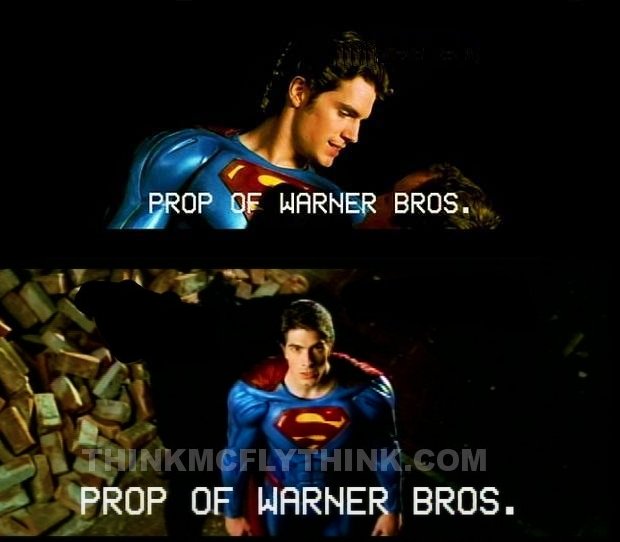 Superman Screen Test Henry Cavil Brandon Routh
