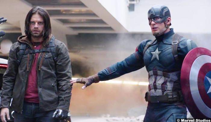 Captain America Civil War Bucky Barnes Winter Soldier Chris Evans Sebastian Stan