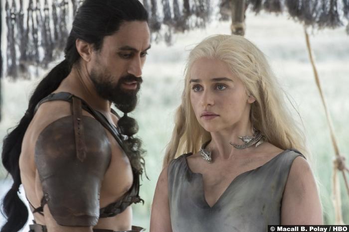 Game Of Thrones S6 2 Emilia Clarke Daenerys Targaryen Joseph Naufahu Dothraki Khal Moro