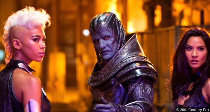 X Men Apocalypse Oscar Isaac Alexandra Shipp Storm Oliva Munn Psylocke