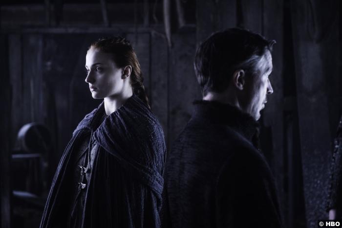 Game Of Thrones S6 E5 Aidan Gillen Petyr Littlefinger Baelish Sophie Turner Sansa