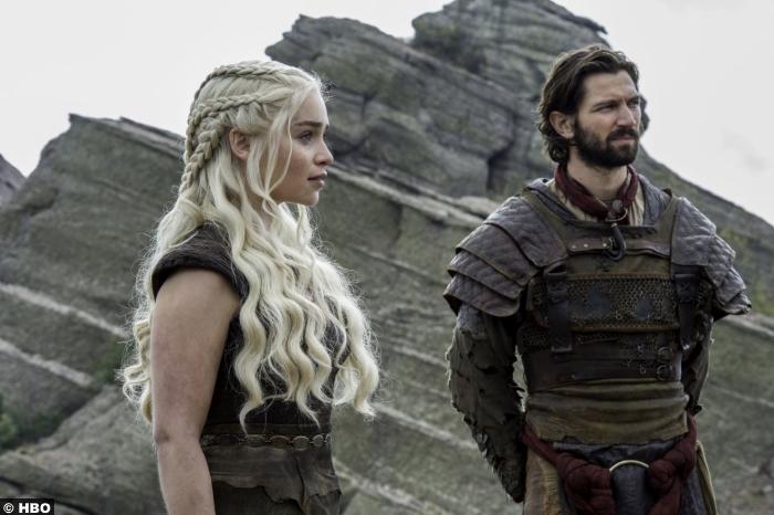 Game Of Thrones S6 E5 Emilia Clarke Daenerys Targaryen Michiel Huisman Daario Naharis