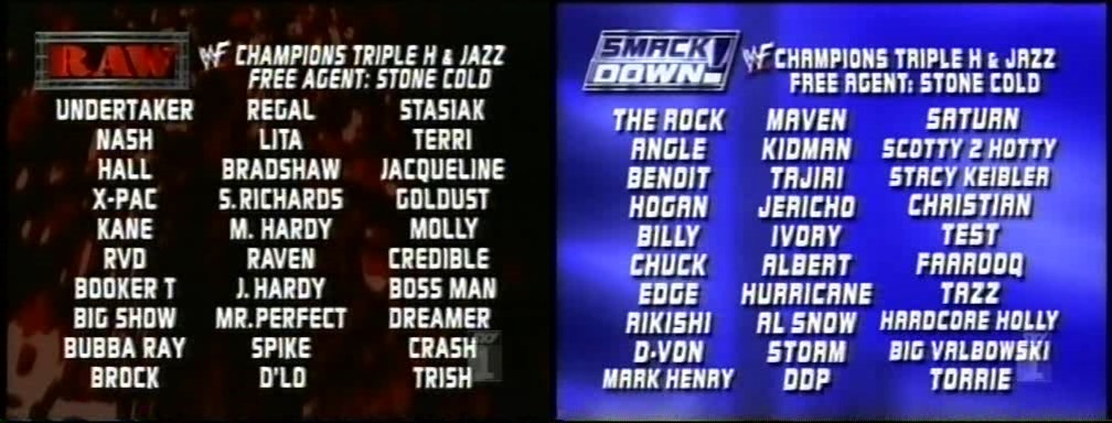 Wwe Original Brand Split