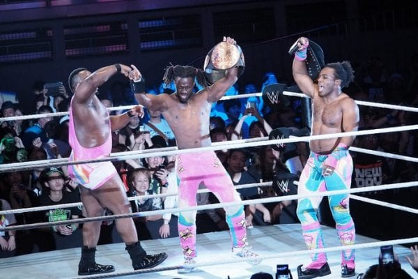 02072016 New Day Big E Kofi Kingston Xavier Woods Tag Team Title Belt