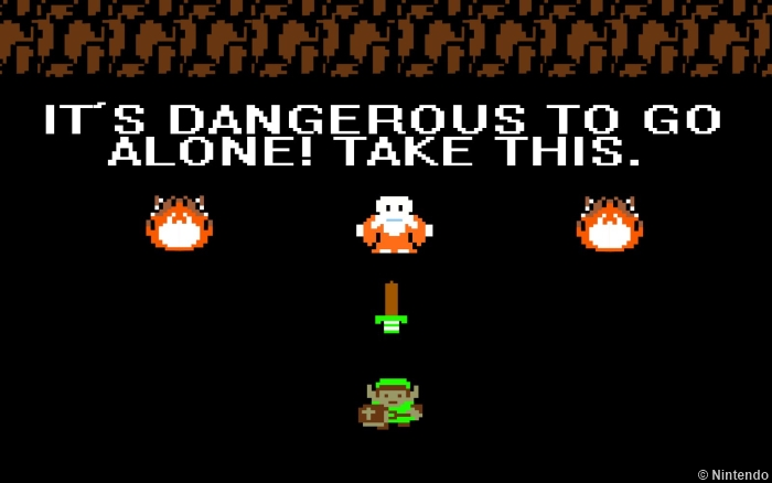Zelda Quote Dangerous Alone