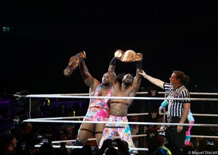 07092016 New Day Xavier Woods Big E Kofi Kingston Tag Title Belts