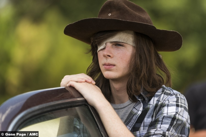 Walking Dead S07 Chandler Riggs Carl Grimes