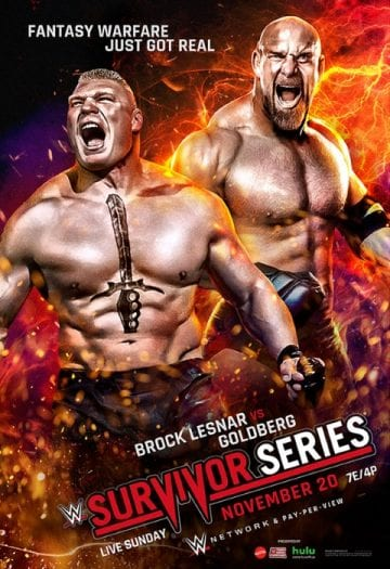 Wwe Survivor Series 2016 Poster