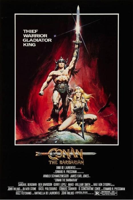 Conan Barbarian Poster 1982