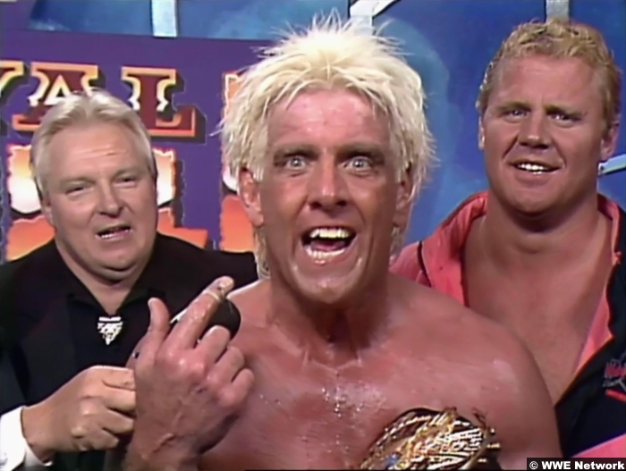 Ric Flair Mr Perfect Bobby Heenan Royal Rumble 1992