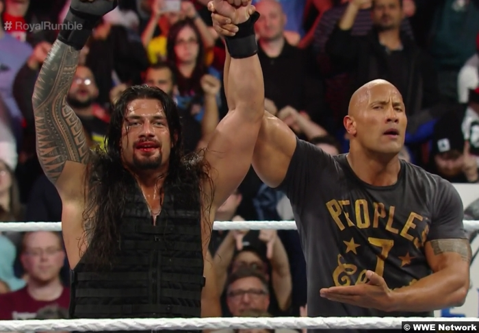 Roman Reigns Rock Royal Rumble 2015