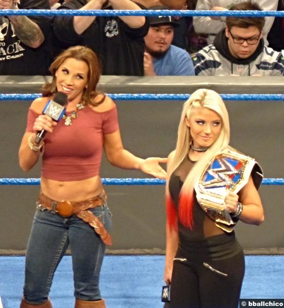 070217 Alexa Bliss Mickie James Womens Title Belt