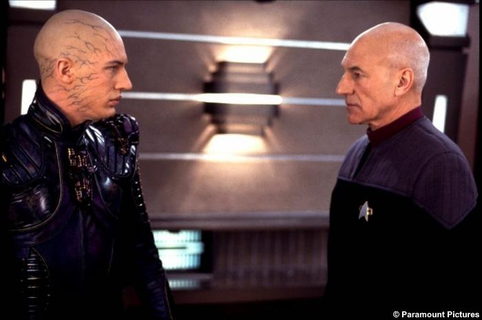 Star Trek Nemesis Tom Hardy Patrick Stewart Jean Luc Picard Shinzon