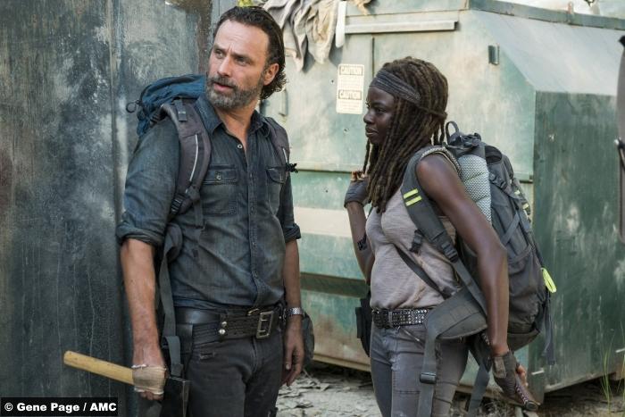 Walking Dead S07e12 Rick Michonne Andrew Lincoln Danai Gurira 2