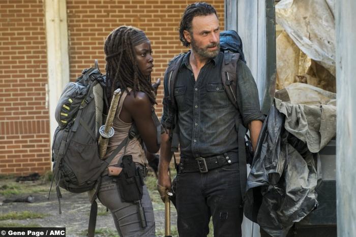 Walking Dead S07e12 Rick Michonne Andrew Lincoln Danai Gurira