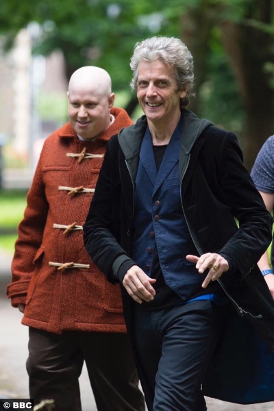 Doctor Who S10 E1 Peter Capaldi Matt Lucas Nardole