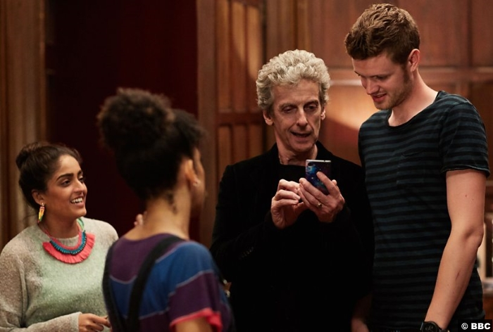 Doctor Who S10e4 Peter Capaldi Pearl Mackie Bill Mandeep Dhillon Ben Presley