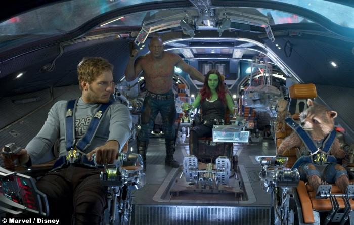 Guardians Galaxy Vol2 Dave Bautista Drax Zoe Saldana Gamora Chris Pratt Peter Quill Star Lord Rocket