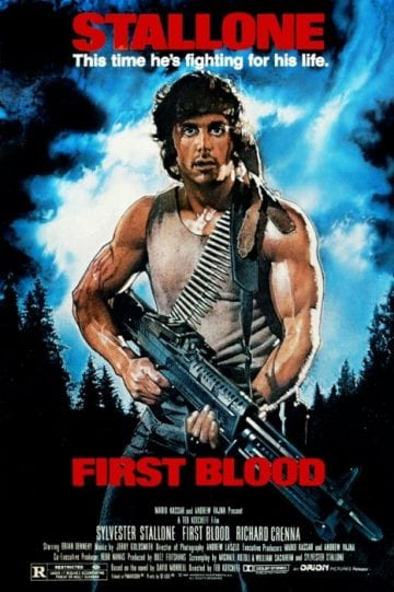 First Blood Rambo 1982 Poster