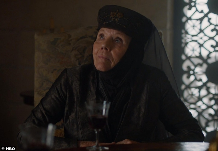 Game Of Thrones S7e3 Diana Rigg Olenna Tyrell