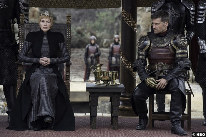 Game Of Thrones S7e7 Nikolaj Coster Waldau Jamie Lannister Lena Headey Cersei
