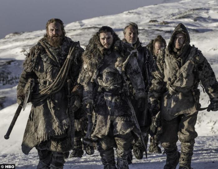 Game Of Thrones S7e9 Kristofer Hivju Tormund Giantsbane Kit Harrington Jon Snow Iain Glen Jorah Mormont Gendry Joe Dempsie