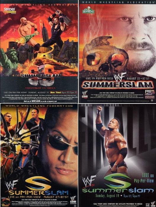 Summerslam 1998 1999 2000 2001 Posters