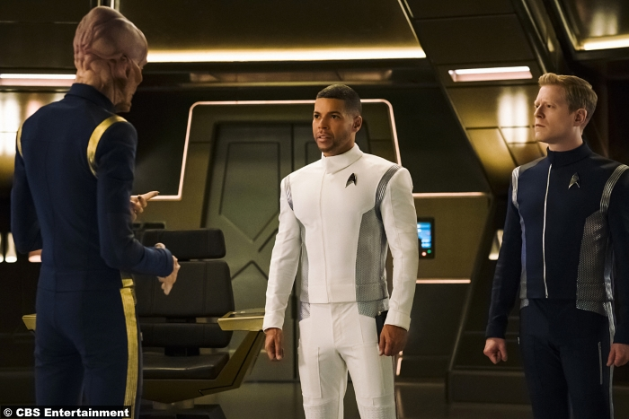 Star Trek Discovery S1e5 Wilson Cruz Doug Jones Anthony Rapp Saru Hugh Culber Paul Stamets
