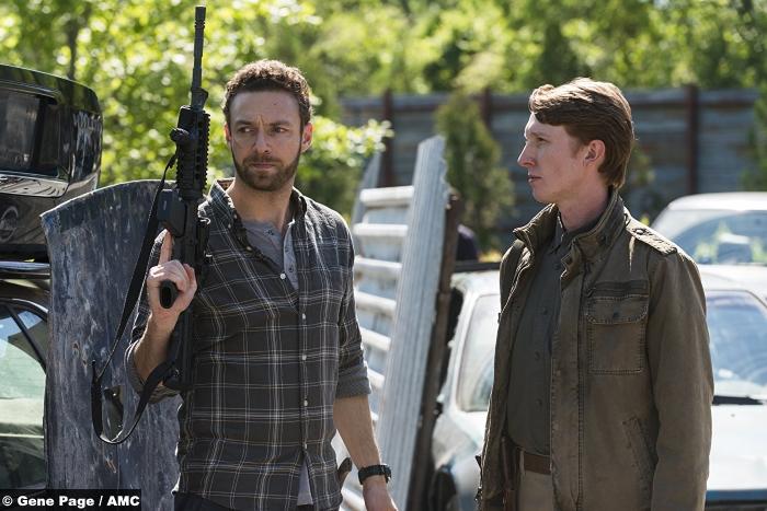 Walking Dead S8e1 Ross Marquand Jordan Woods Robinson Aaron Eric