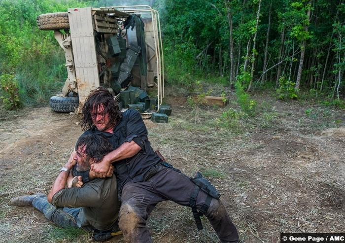 Walking Dead S8e05 Daryl Dixon Norman Reedus Rick Grimes Andrew Lincoln