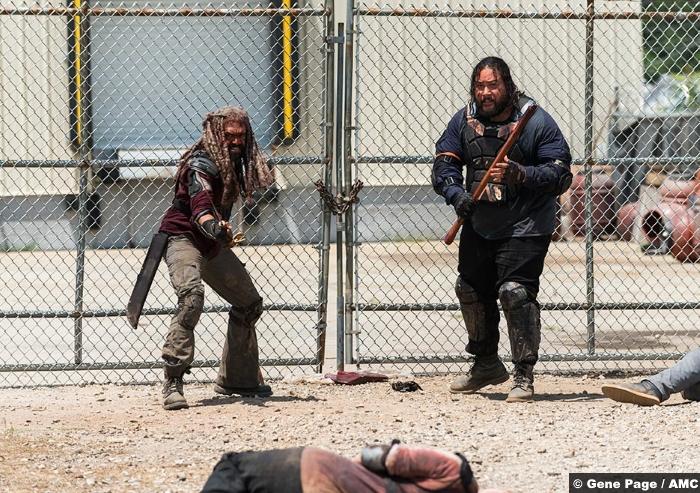 Walking Dead S8e4 Ezekiel Khary Payton Jerry Cooper Andrews