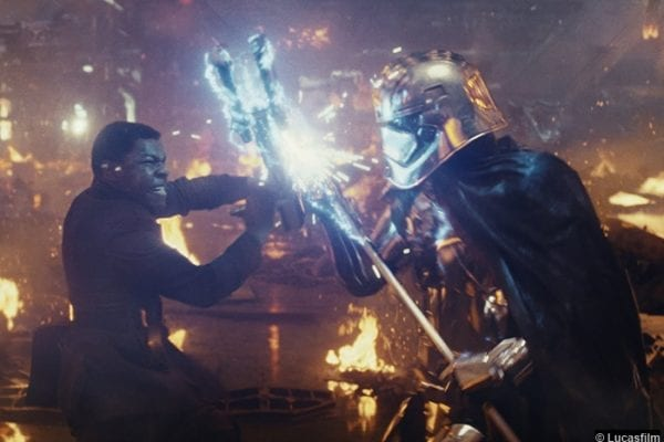 Star Wars Last Jedi Gwendoline Christie Captain Phasma John Boyega Finn