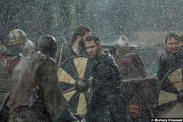 Vikings S05e3 Jonathan Rhys Meyers Bishop Heahmund Battle