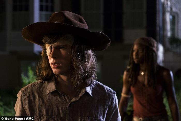 Walking Dead S08e8 Michonne Danai Gurira Chandler Riggs Carl Grimes