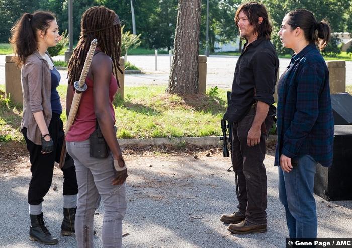 Walking Dead S8e6 Daryl Rosita Michonne Tara