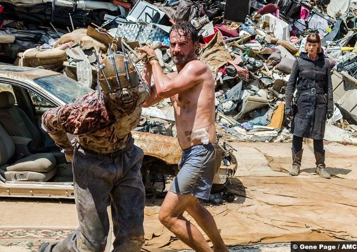 Walking Dead S8e7 Andrew Lincoln Rick Grimes Jadis Pollyanna Mcintosh