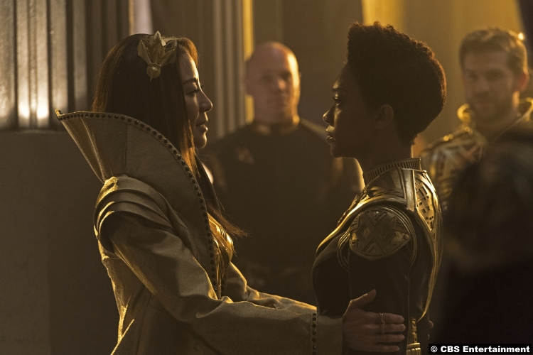 Star Trek Discovery S1e12 Michelle Yeoh Sonequa Martin Green Michael Burnham Captain Philippa Georgiou