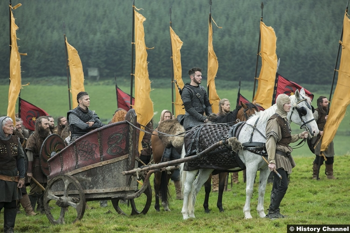 Vikings S5e7 Alex Hogh Andersen Ivar Boneless Jonathan Rhys Meyers Bishop Heahmund
