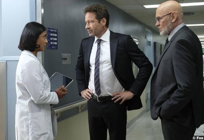 X Files S11e01 Mitch Pileggi Walter Skinner David Duchovny Fox Mulder